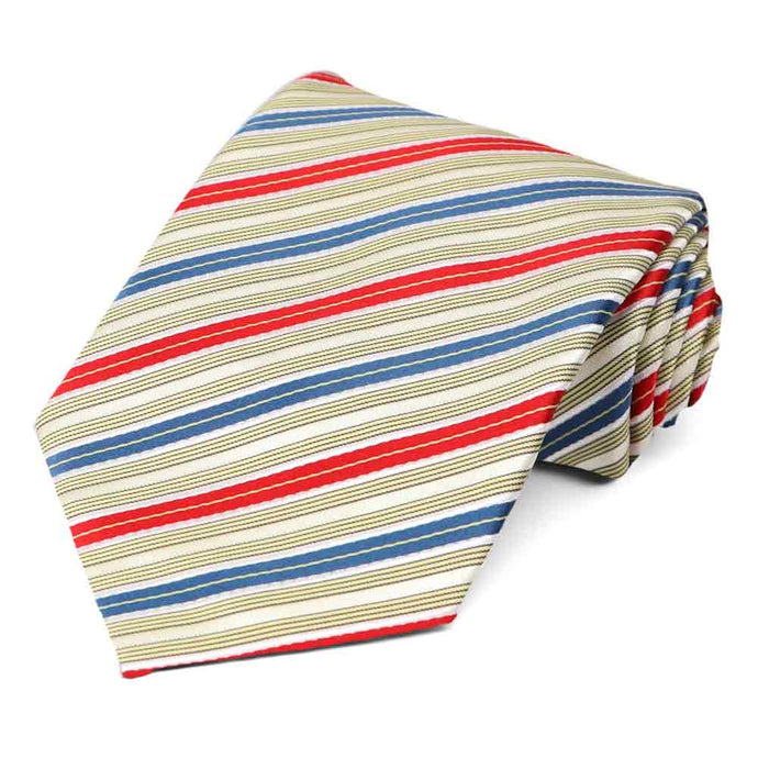 Red and Blue Washington Striped Necktie