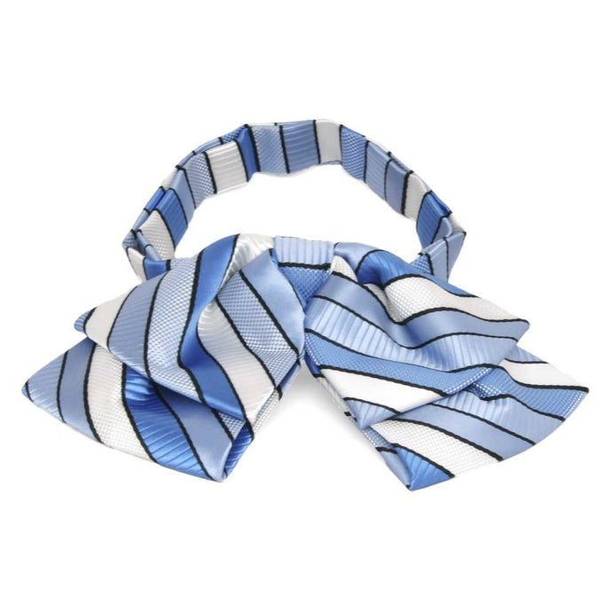 Wave Blue Douglas Stripe Floppy Bow Tie