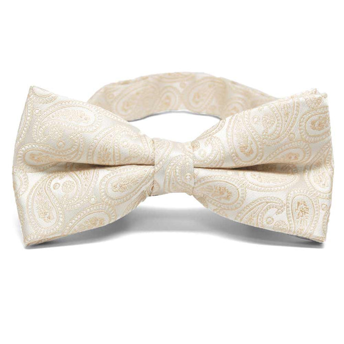 Wheat Brown Darlene Paisley Band Collar Bow Tie