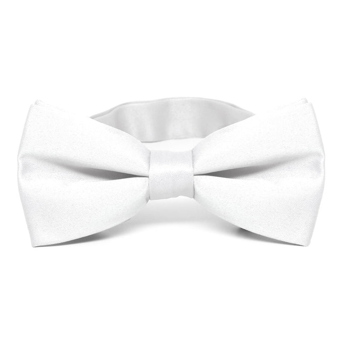 White Band Collar Bow Tie