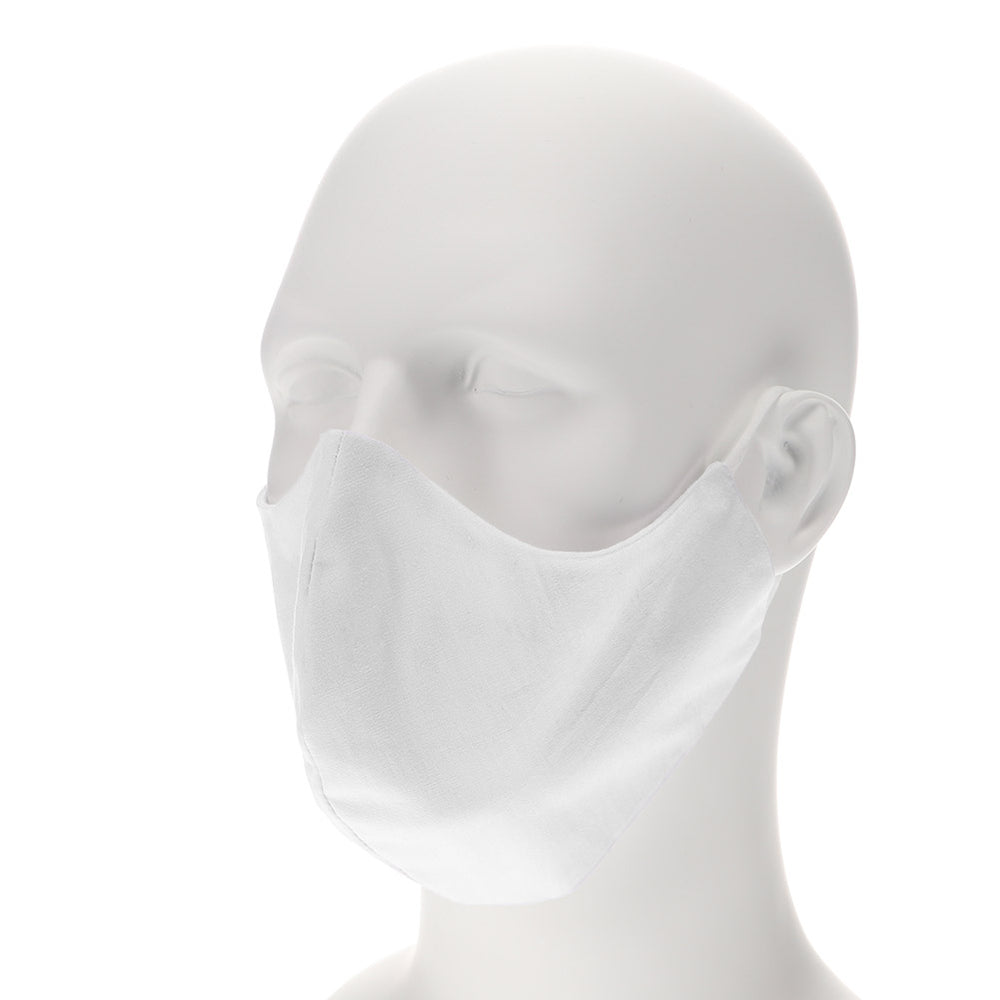 White face mask on mannequin
