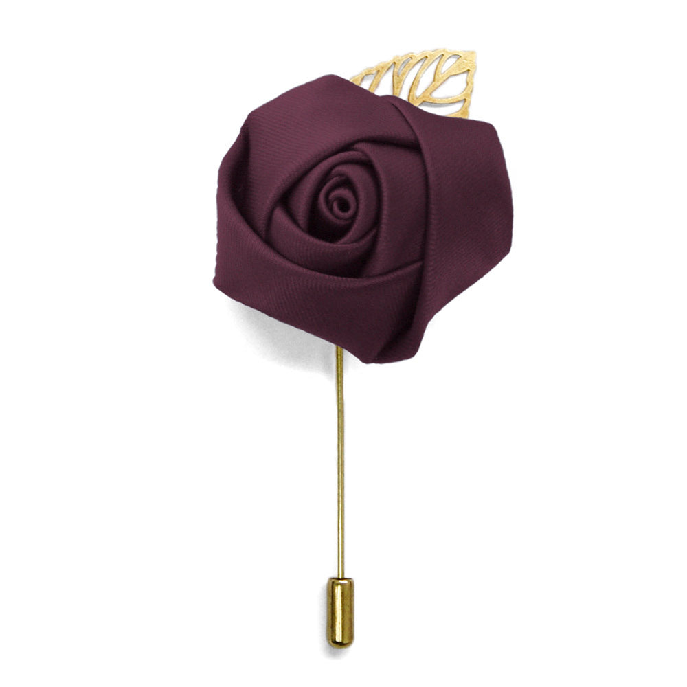 Wine Premium Flower Lapel Pin