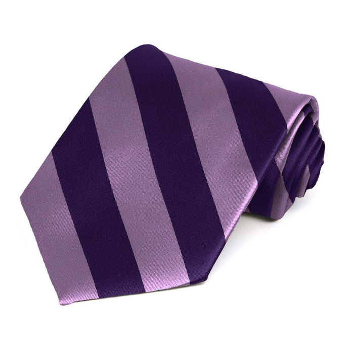 Wisteria Purple and Lapis Purple Striped Tie
