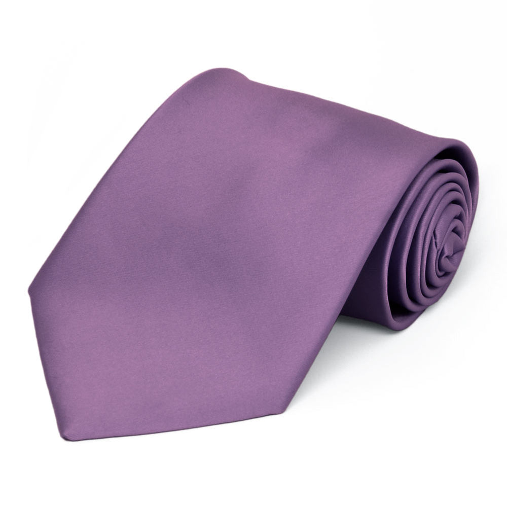 Wisteria Purple Premium Solid Color Necktie