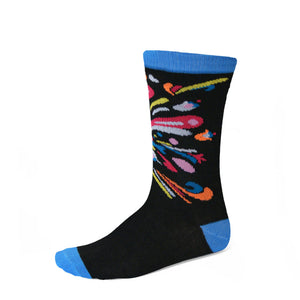 Women's blue and black socks