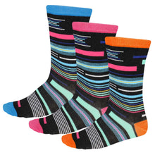 Load image into Gallery viewer, Women's funky striped socks in bright colors
