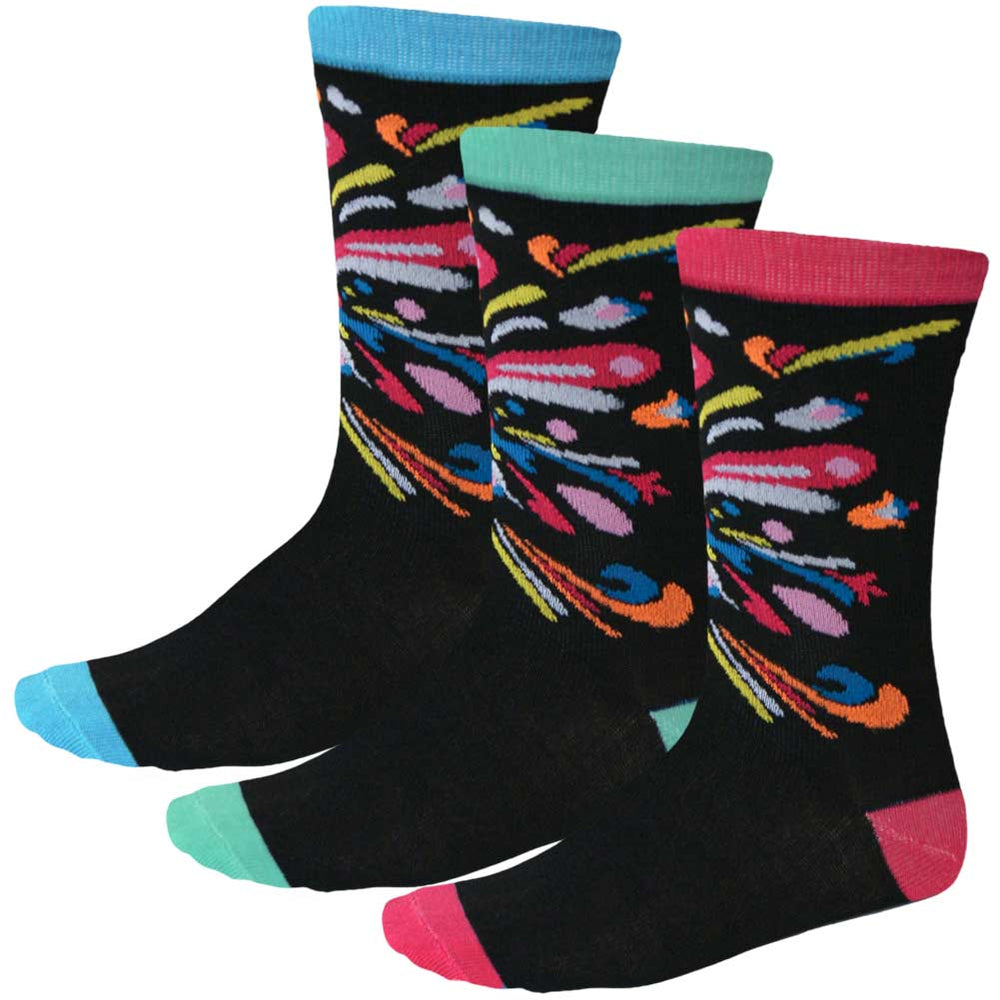Women's 3-pack paisley socks in fun colors