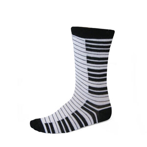 Black and white piano key socks
