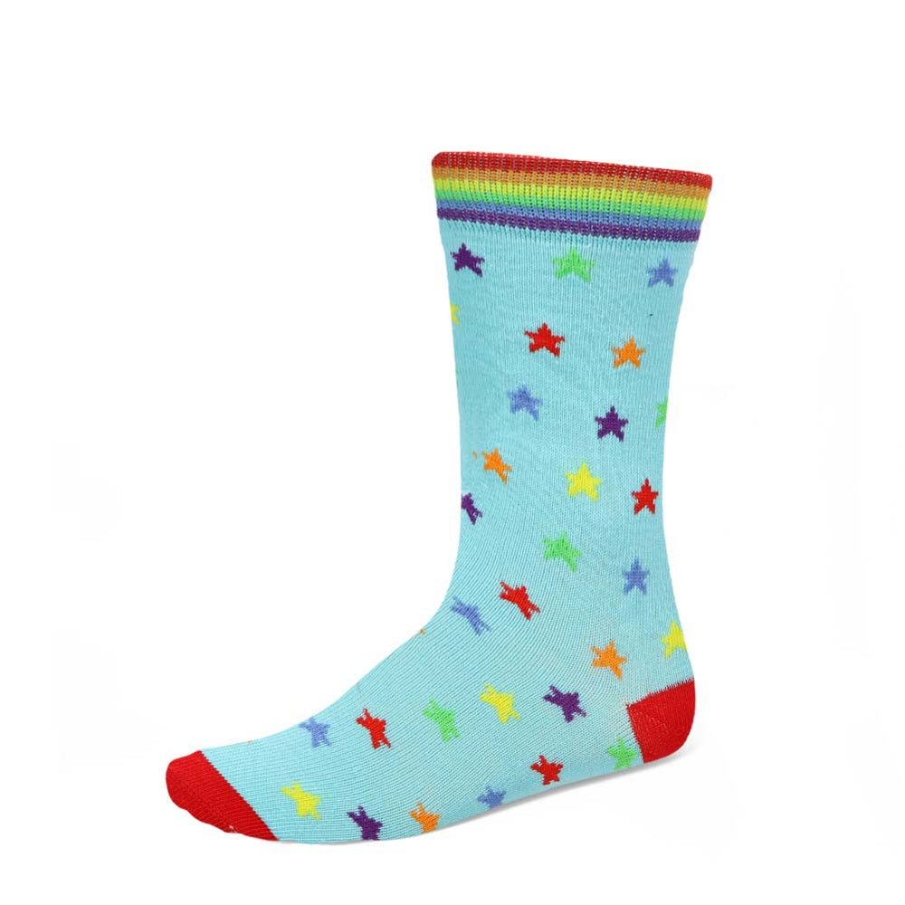 Women's colorful rainbow star socks