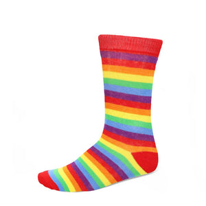 Women's rainbow striped socks