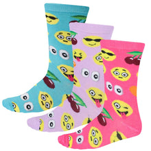Load image into Gallery viewer, Women's smiley face socks in a multi pack
