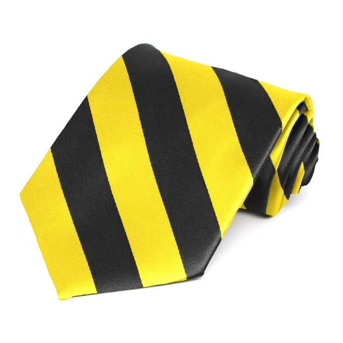 Yellow and Black Striped Tie
