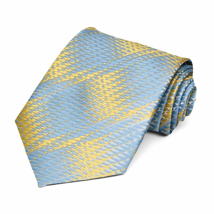 Powder Blue Downey Geometric Necktie