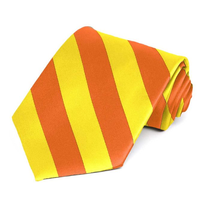Yellow and Orange Striped Tie