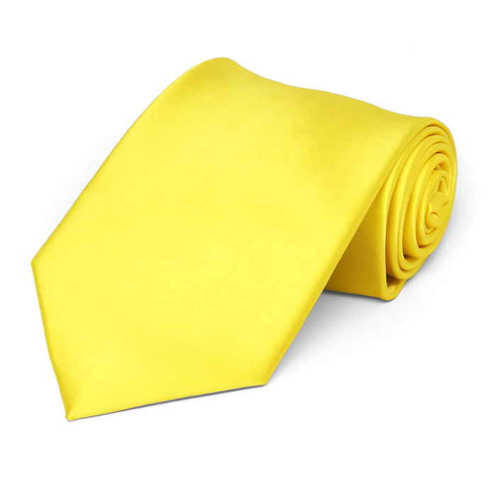 Yellow Premium Solid Color Necktie