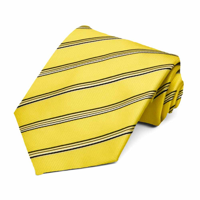 Yellow Hayward Striped Necktie