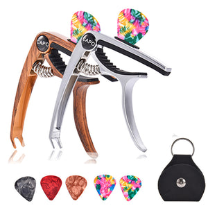 Guitar Capo with 5 Picks for Acoustic and Electric Guitars
