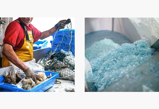 traceability, NGO, Fishermen, ocean plastic, upcycled, Seaqual, sustainable production, Mediterranean