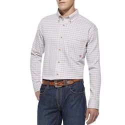 ARIAT FR GAUGE WORK SHIRT - MEN'S - WHITE MULTI - 10014857