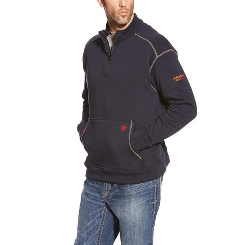 ARIAT FR POLARTEC FLEECE 1/4 ZIP TOP - MEN'S - NAVY - 10015950