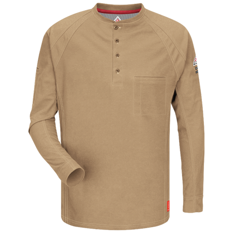 BULWARK iQ SERIES® COMFORT KNIT FR HENLEY - MEN'S - MULTIPLE COLORS - QT20
