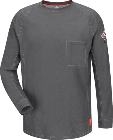BULWARK iQ SERIES® COMFORT KNIT FR LONG SLEEVE T-SHIRT - MEN'S - MULTIPLE COLORS - QT32