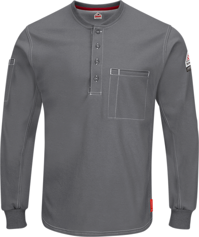 BULWARK iQ SERIES® COMFORT PLUS KNIT FR HENLEY - MEN'S - MULTIPLE COLORS - QT40