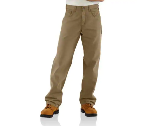 CARHARTT FR LOOSE FIT MIDWEIGHT CANVAS PANT - MEN'S - GOLDEN KHAKI - FRB159