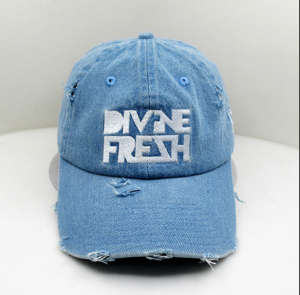 COMING SOON! DF Blue Jean Distressed Dad Hat