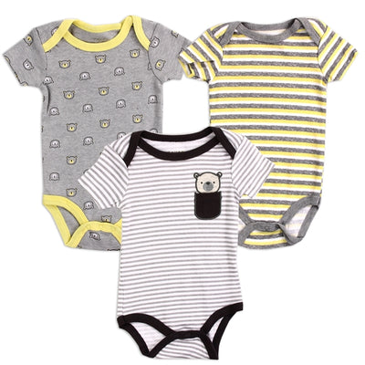 Tiny Bear 3-Pack Onesie Set - Cozy N Cute Kids Boutique