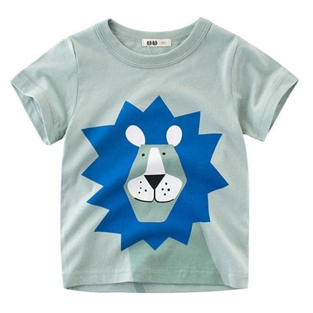 Animal Print T-Shirt - Lion- Cozy N Cute Kids Boutique
