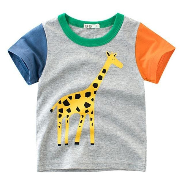 Animal Print T-Shirt -Giraffe- Cozy N Cute Kids Boutique