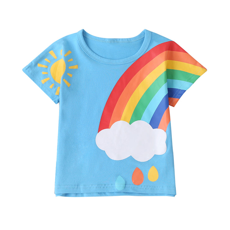 Rainbows and Drops T-Shirt - Cozy N Cute Kids Boutique
