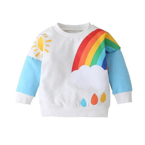 Rainbows and Drops Sweatshirt - Cozy N Cute Kids Boutique