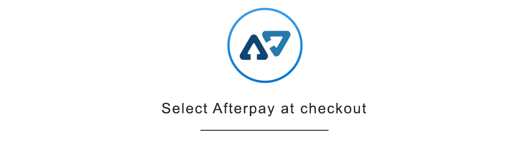 Select Afterpay at checkout