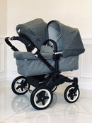 Bugaboo® Donkey Duo (Grey Melange with Donkey 2 Carrycot)
