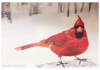 tom merriam painting cardinal