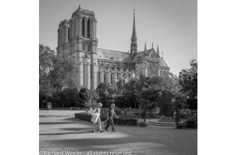 """A Couple Walking by Notre Dame"" Richard Wexler"