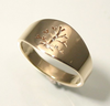 Tree of Life: 14k Gold Ring, Sizes 4.5-7.5