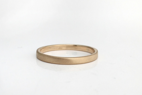 Matte: Simple and Elegant, 14k Narrow Band, Sizes 4.5-7.5