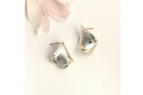 Ruffle: Sterling Silver Earring Small