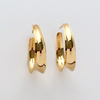 Anticlastic Oval Hoop in 14k Yellow Gold