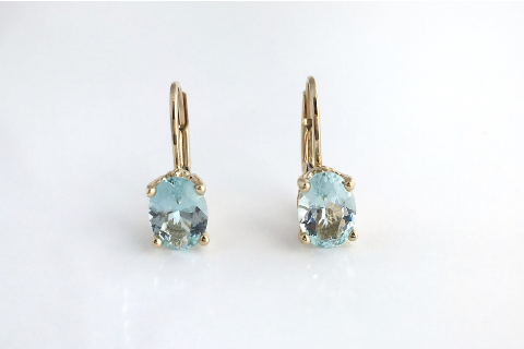Crystal Blue: Aquamarines set in 14k Yellow Gold