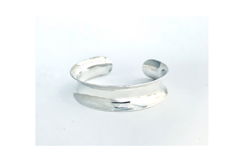 Channel: Sterling Silver Anticlastic Bracelet Wide
