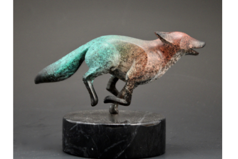Running Fox Turquoise Back by Michael Tatom