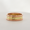River with Banks 14k Two-Tone 7mm Ring Size 4.5-7.5