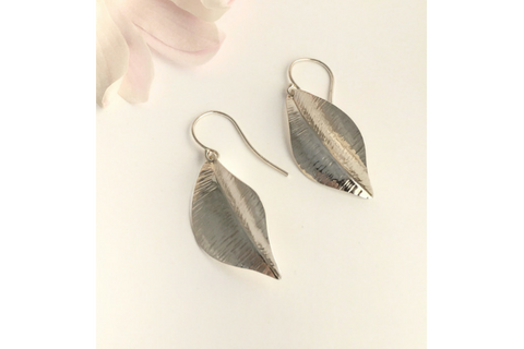 A New Leaf: Sterling Silver Earrings