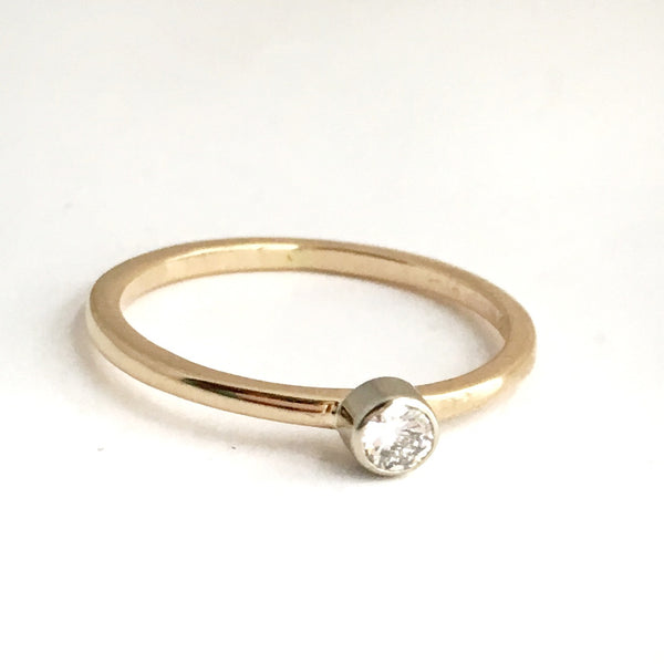 Firelight: Diamond Stacking Ring in 14k Yellow Gold