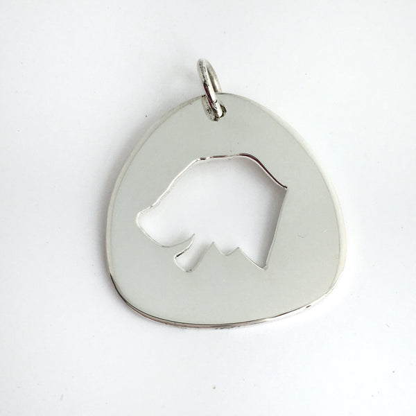 Dog Pendant in Sterling Silver