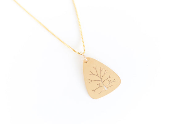 Tree of Life Pendant in 14k Yellow Gold Large